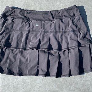 Lululemon pacesetter skirt black 12 T